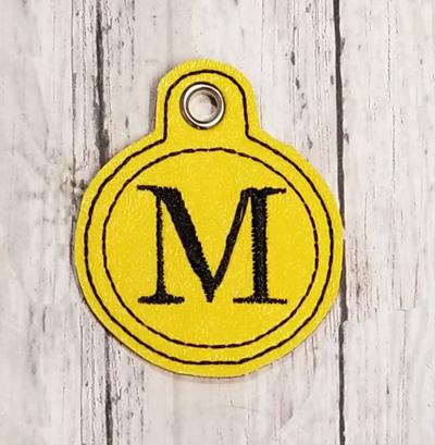 M Circle Eyelet Digitle File