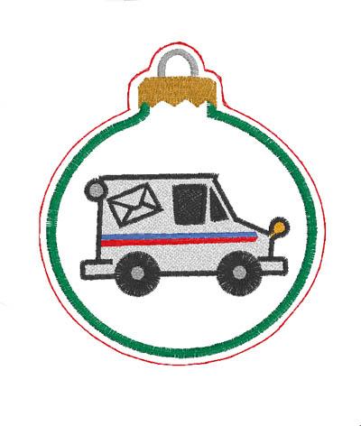 Mail Truck Ornament Digital File