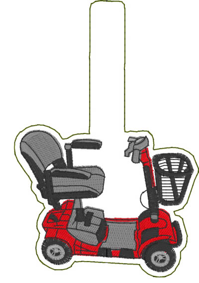 Med Scooter Snap Tab Digital Design File
