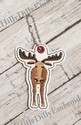 Moose with year option Eyelet Digital File