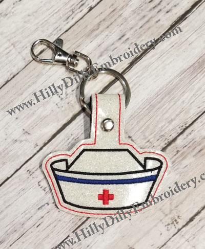 Nurse Hat Snap Tab Digital File