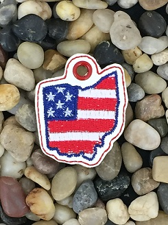 Ohio Patriotic Eyelet Digital File