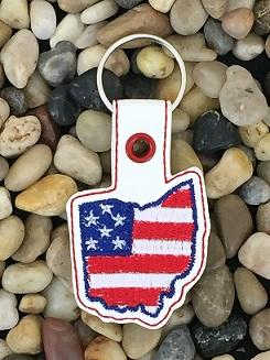 Ohio Patriotic State Snap Tab Digital File