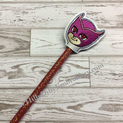 Pink Owl Girl Pencil Topper Digital File