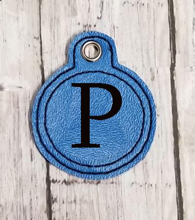 P Circle Eyelet Digital File