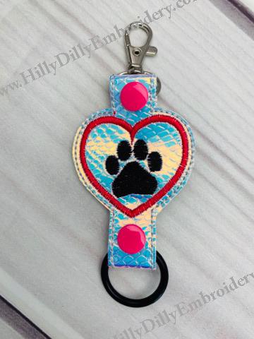 Paw in Heart Bottle Holder Digital File
