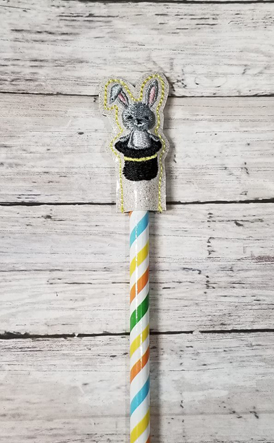Pencil Rabbit Topper Digital File