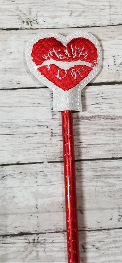 Pencil Lip Heart Topper Digital File