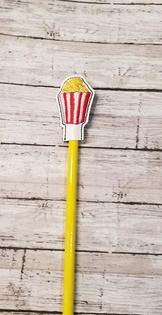 Popcorn Pencil Topper Digital File