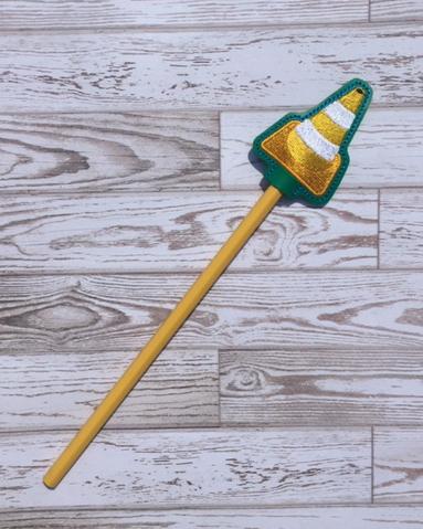 Construction Cone Pencil Topper Digital File