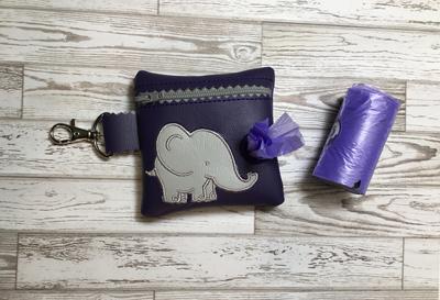 Poo Bag Ellie Elephant 4x4 Digital Design File