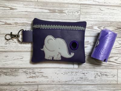 Poo Bag Ellie Elephant 5x7 Digital Design File