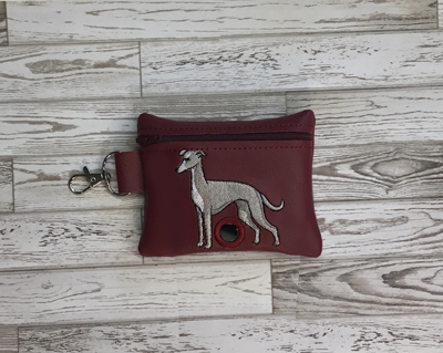 Poo Bag Grey Hound2 5x7 Digital Design File