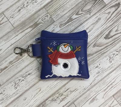 Poo Bag Snowman 4x4 Digital Design File