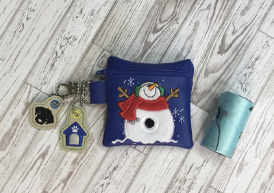 Poo Bag Snowman 5x7 Digital Design File