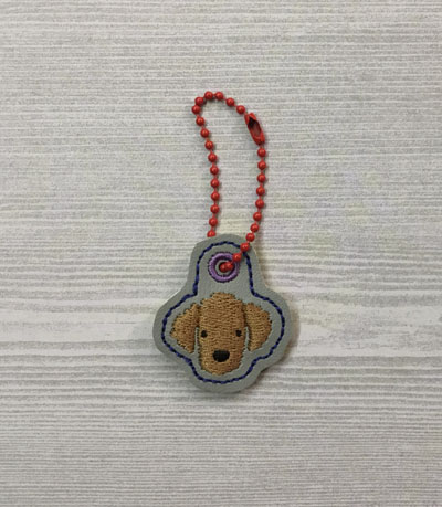 Poodle Dog Head Charm Digital File