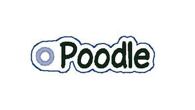 Poodle Word Charm Digital File