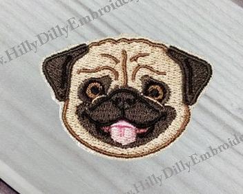 Pug Face 4x4 Design Digital File
