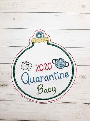 Quarantine Baby Ornament Digital Design File