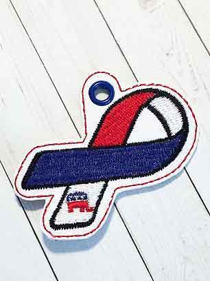Republican Ribbon Eyelet Digital Design File