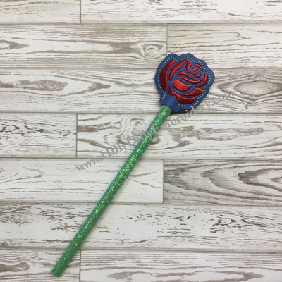 Rose Stencil Pencil Topper Digital Design File