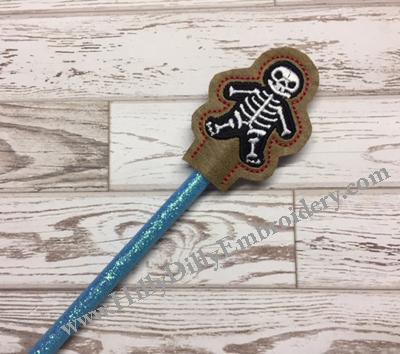 Skeleton Pencil Topper Digital Design