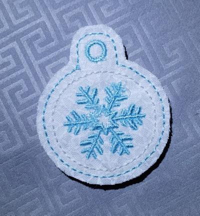 Snowflake Circle Eyelet Digital File