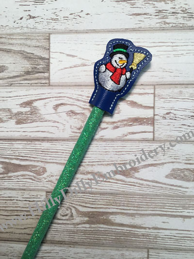 Snowman1 Pencil Topper Digital File