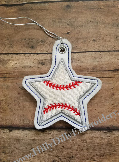 Star Baseball Eyelet Digital Design