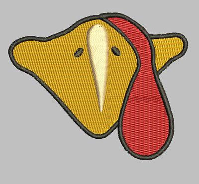 Turkey Beak Design 4x4 digital File