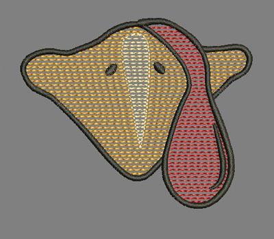 Turkey Beak Quick Stitch 4x4 Design