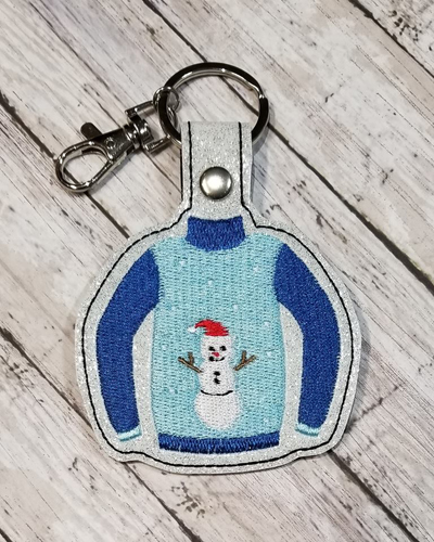 Sweater Snowman Snap Tab Digital File