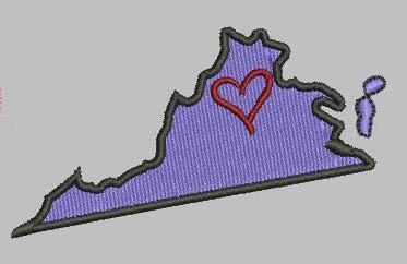 Virginia State Eyelet Digital File