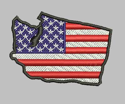 Washington State Patriotic Eyelet Digital File