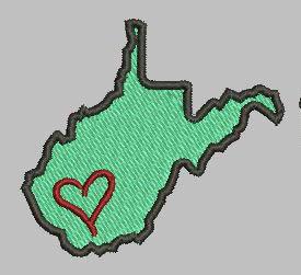 West Virginia State Eyelet Digital File