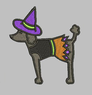 Witch Dog 4x4 Digital File