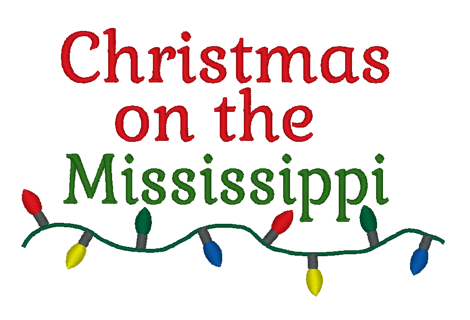 Christmas on the Mississippi 5x7 Digital File