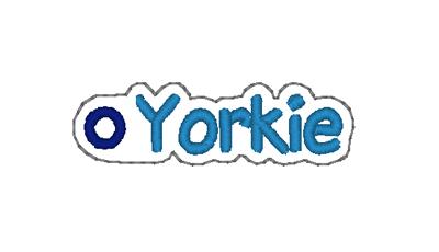 Yorkie Word Charm Digital File