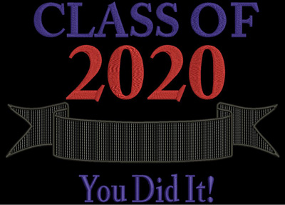 Class of 2020 You DId It 12x8 Digital Design