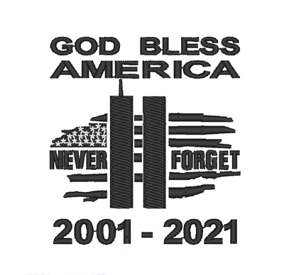 Twin Towers 20 Years -  2 Sizes Digital Design File